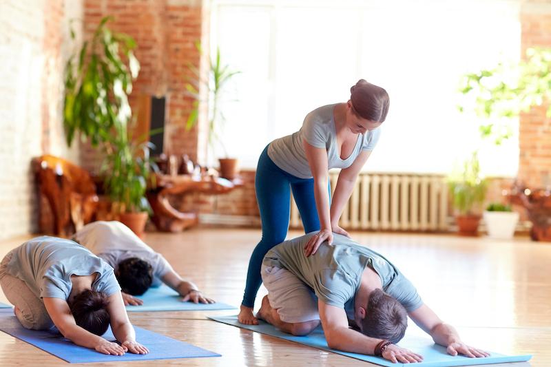 Yoga instructor training class